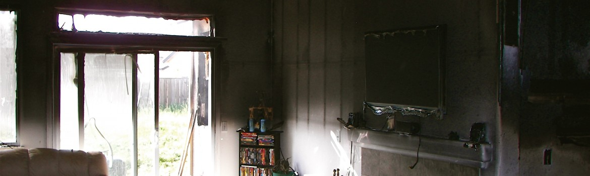 Inside of home after fire