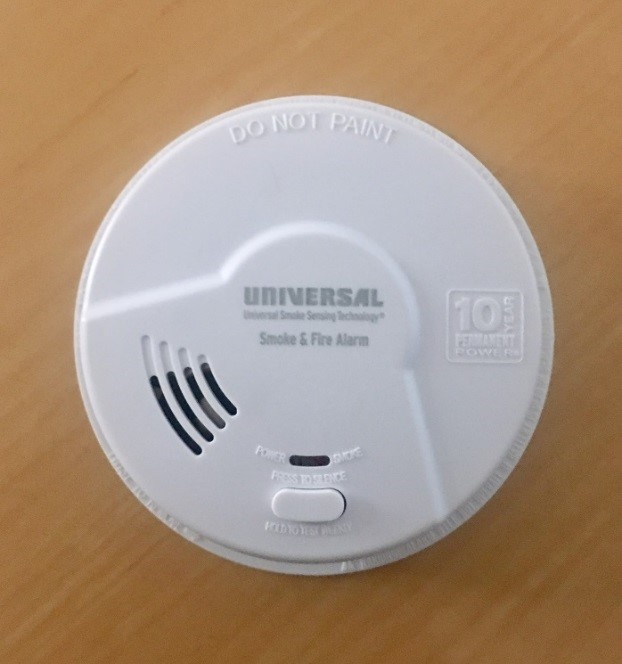 Image of recalled Universal Security Instruments Smoke Alarm